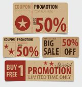 stock photo of coupon  - Sale Coupon - JPG