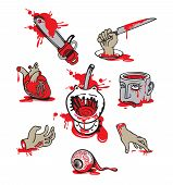 picture of gruesome  - Collection of humorous pictures with scenes of horror - JPG
