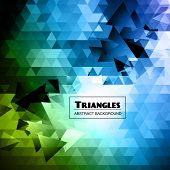 picture of triangular pyramids  - Triangles Abstract Background vector - JPG