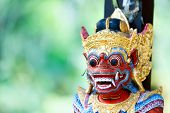 image of godly  - Close up of a traditional Balinese God statue in Bali temple - JPG