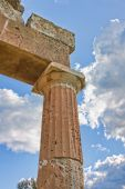 foto of artemis  - Details of a column at the Sanctuary of Artemis at Vravrona in Greece - JPG