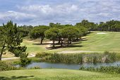 foto of vilamoura  - Landscape of a golf course on the coastline of Portugal Vilamoura - JPG