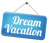 dream vacation traveling towards holiday destination summer winter or spring vacations to exotic paradise places travel the world and enjoy life  poster