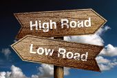 Постер, плакат: High Road And Low Road