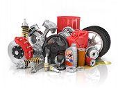 image of speeding car  - Set of parts of car - JPG