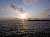 foto of leghorn  - Warm sunset at Marina di Cecina Leghorn  - JPG