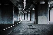 foto of darkness  - Urban background with big road bridge - JPG