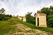 picture of calvary  - Small Church and Chapels in the Row on Calvary Nitra Slovakia - JPG