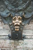 image of munich residence  - Lion Face as a Good Luck Symbol in Munich Germany - JPG