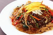 foto of glass noodles  - Korean traditional food - JPG