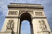 stock photo of charles de gaulle  - Arc de Triomphe at Place Charles de Gaulle in Paris - JPG