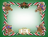 foto of candy cane border  - Image and illustration composition for Christmas border - JPG