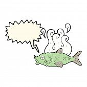pic of smelly  - cartoon smelly fish with speech bubble - JPG