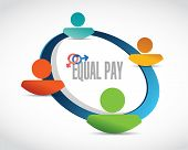 picture of equality  - equal pay people diagram sign illustration design over white - JPG