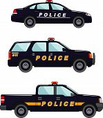 pic of armored car  - Three variants of the police car in a flat style - JPG