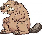 stock photo of beaver  - Prehistoric monster beaver - JPG