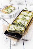 foto of tarts  - Mozzarella Spinach Tarte - JPG