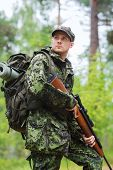 stock photo of army  - hunting - JPG