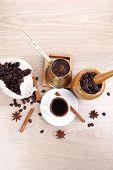 image of hot coffee  - sweet hot drink  - JPG