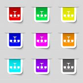 picture of chandelier  - Chandelier Light Lamp icon sign - JPG