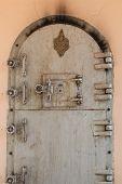picture of crematory  - Buddhist crematorium in Thailand architecture of iron door for burn death body - JPG