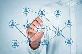 stock photo of network  - Professional networking concept - JPG