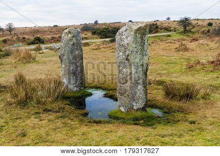 Two Standing Stones Near To