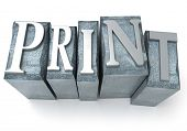 3D Rendering of print worry in print Brief Fällen