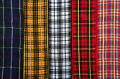 Scottish tartan fabric tapes pattern background fashion trend