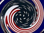 American Flag Swirling Graphic Design