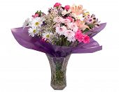 picture of floral bouquet  - bouquet of flowers with white background - JPG