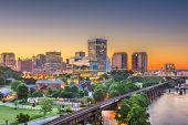 Richmond, Virginia, USA downtown skyline on the James River.  poster