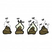 foto of poo  - collection of cartoon poo - JPG