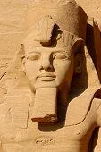 picture of ramses  - This sandstone carving of the Egyptian Pharoah Ramses - JPG