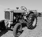 Old Agricultural Machinery. Tractor. Retro Technology. The Exhibition Of Agricultural Machinery. poster
