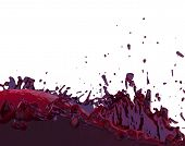 Red Juice Splashing Fruity Purple Liquid Splash 3d Illustration poster