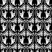Gothic Floral Seamless Pattern. Vertical Rhythm. Popular Motiff In Medieval European Art. Element Fo poster