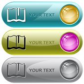 Book. Vector internet buttons.