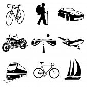 foto of knapsack  - Vector icons of transport - JPG