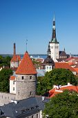 stock photo of olaf  - Cityscape picture taken in the Old Town of Tallinn Estonia - JPG