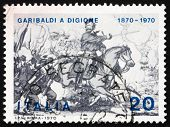Postage stamp Italy 1970 Giuseppe Garibaldi at Battle of Dijon