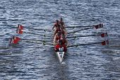 BOSTON - OCTOBER 21: Community Rowing Inc races in the Head of Charles Regatta, Marin Rowing Associa