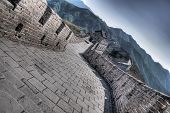 foto of qin dynasty  - Great Wall at Mutianyu near Beijing, China
