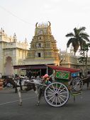 pic of saracen  - A colourful chariot for the enjoyment of tourists Mysore India - JPG