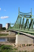 River Mures Suspension Bridge