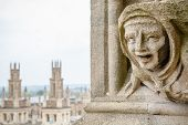 image of gargoyles  - Carved Gargoyle Figure and All Souls College from St - JPG