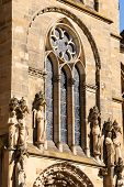 stock photo of reign  - Detail of Trier Cathedral or Dom St - JPG