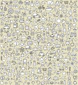 stock photo of xxl  - XXL Doodle Icons Set No - JPG
