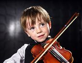foto of violin  - Freckled red - JPG