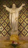 picture of assis  - Jesus Statue Flowers Mission Dolores Saint Francis De Assis Ornate Carving San Francisco California